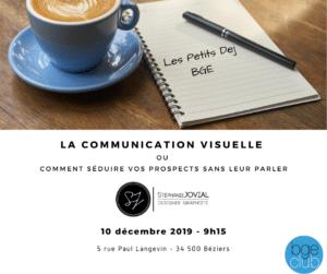 La Communication visuelle bge est occitannie les petits dej bge 10 decembre 2019